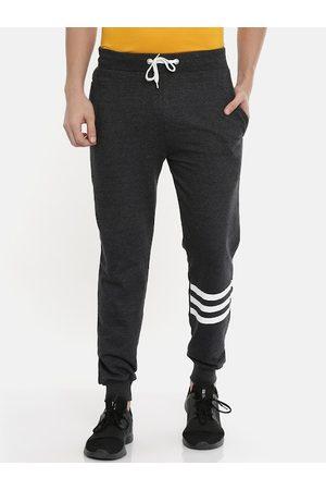 Bushirt Men Charcoal Grey Solid Slim-Fit Joggers