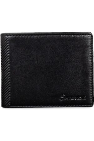 MAI SOLI Men Black Solid Genuine Leather Two Fold Wallet