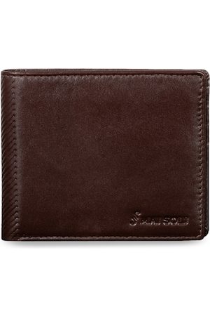 MAI SOLI Men Brown Solid Two Fold Wallet