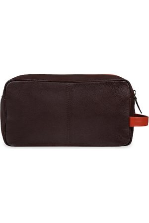 MAI SOLI Men Brown & Orange Solid Toiletry Bag
