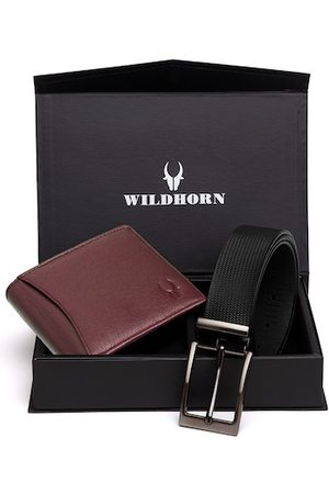 WildHorn Men Brown & Black RFID Protected Genuine Leather Accessory Gift Set