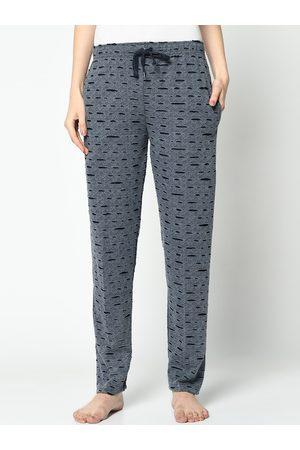 VIMAL JONNEY Women Grey Printed Lounge Pants