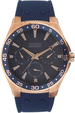 Guess Men Blue Analogue Watch W1171G4
