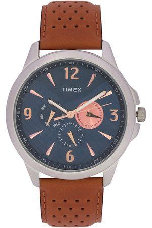 Timex Men Blue & Brown Analogue Watch TWEG16516