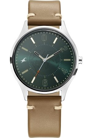 Fastrack Men Green Analogue Watch 3237SL01
