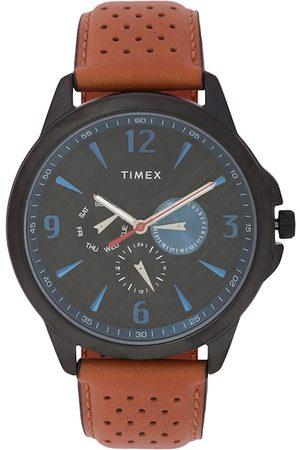Timex Men Black & Brown Analogue Watch TWEG16518