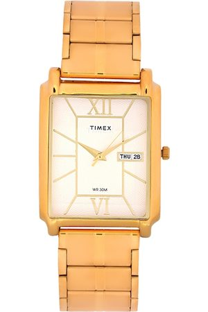 Timex Men Off-White Analogue Watch TW000W905