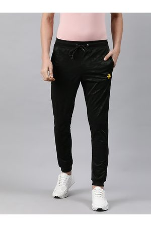 WROGN ACTIVE Men Black Solid Straight Fit Joggers