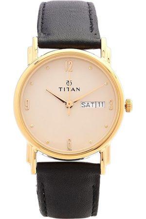 Titan Men Pink Dial Watch NH1445YL05