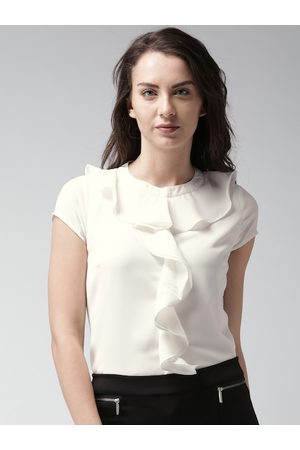 Mast & Harbour Women White Solid Top