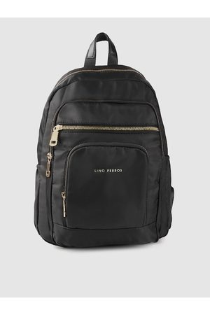 Lino Perros Women Black Solid Backpack