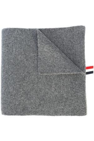 Thom Browne Men Scarves - 4-Bar Stripe Cashmere Rib Scarf