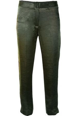 ANN DEMEULEMEESTER Crinkled satin trousers