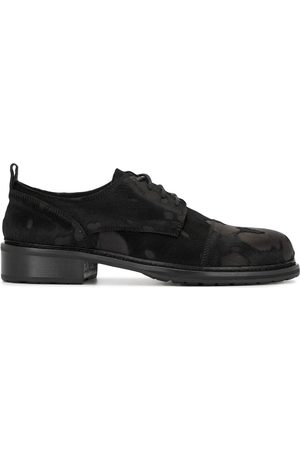 ANN DEMEULEMEESTER Flocked lace-up shoes