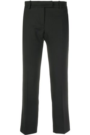 Liu Jo Contrast-piped cropped trousers