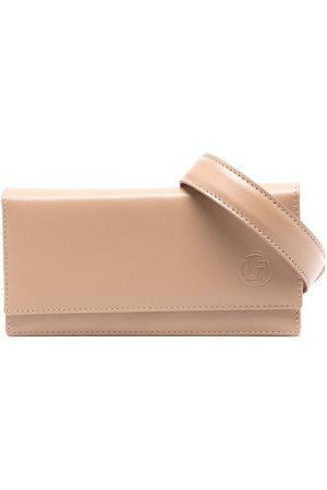 Linda Farrow Embossed-logo leather belt bag