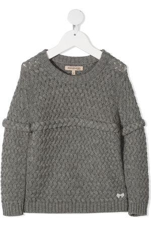 HUCKLEBONES LONDON Girls Jumpers - Chunky-knit plait-detail jumper
