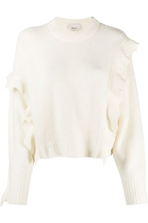 3.1 Phillip Lim LS LOFTY CROPPED RUFFLE PULLOVER