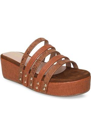 VALIOSAA Women Tan Brown Textured Heels