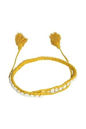 Diwaah Women Yellow Woven Design Handmade Belt