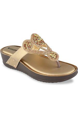 Shoetopia Women Copper-Toned Embellished Heels