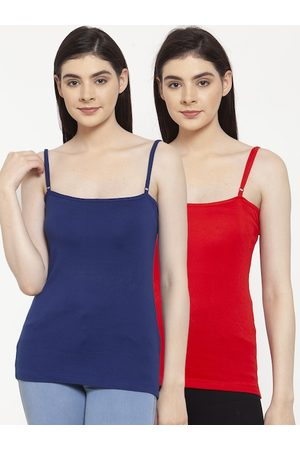 Friskers Women Pack Of 2 Solid Camisoles E-03-05-S