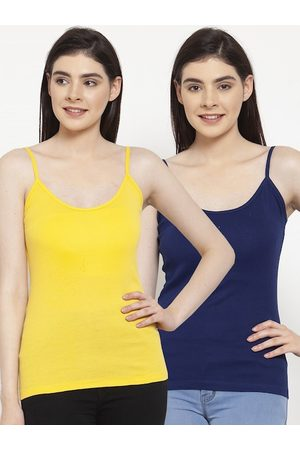 Friskers Women Pack Of 2 Solid Camisoles H-05-06-S