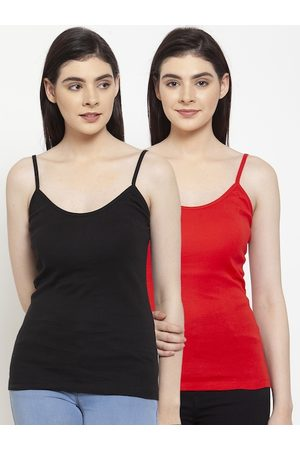 Friskers Women Pack Of 2 Solid Camisoles H-01-03-S