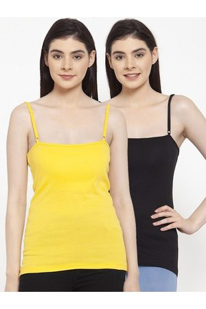 Friskers Women Pack Of 2 Solid Camisoles E-01-06-S