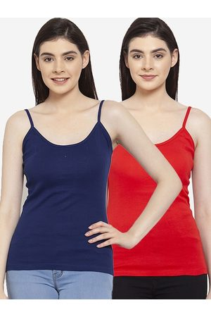 Friskers Women Pack Of 2 Solid Camisoles H-03-05-S