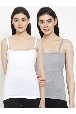 Friskers Women Pack Of 2 Solid Camisoles E-02-04-S