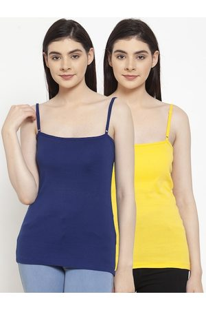 Friskers Women Pack Of 2 Solid Camisoles E-05-06-S