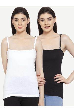 Friskers Women Pack Of 2 Solid Camisoles E-01-02-S
