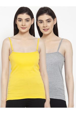 Friskers Women Pack Of 2 Solid Camisoles E-04-06-S