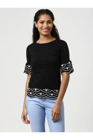 Harpa Women Black Embellished Top