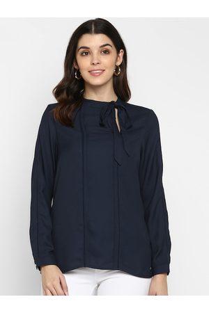 Aditi Wasan Women Navy Blue Solid Top