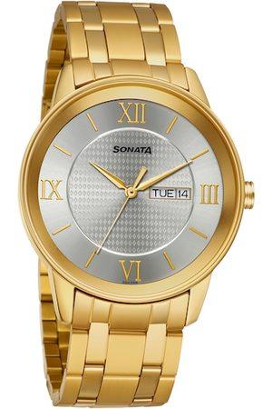 Sonata Men Watches - Utsav Men Silver-Toned Analogue Watch 7133YM01