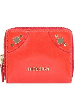 Hidesign Women Red Solid Zip Around Wallet