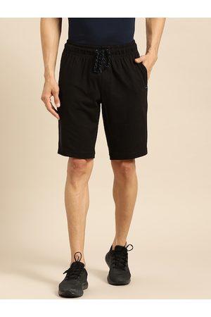 Jockey Men Sports Shorts - Men Black Solid Straight Fit Sport Shorts