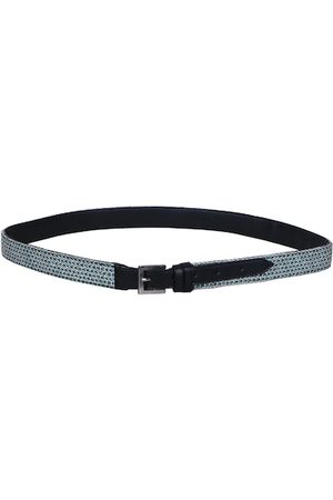 Diwaah Women Navy Blue & White Woven Design Belt