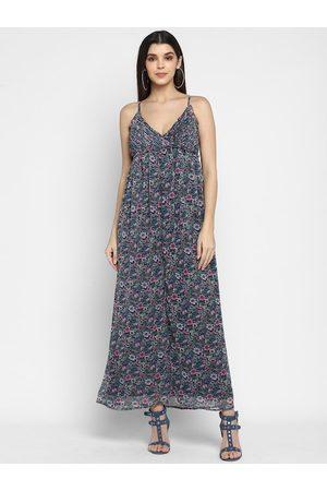 Aditi Wasan Women Blue Printed Maxi Dress