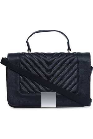 Diwaah Black Textured Satchel
