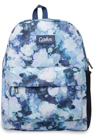 GEPACK Women Navy Blue Graphic Backpack