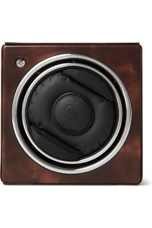 Rapport London George Cleverley Leather, Aluminium and Cedar Wood Watch Winder