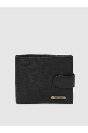 Hidesign Men Black Solid Two Fold Leather Wallet