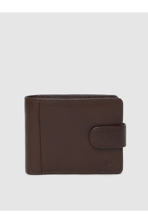 Hidesign Men Brown Solid Two Fold Wallet