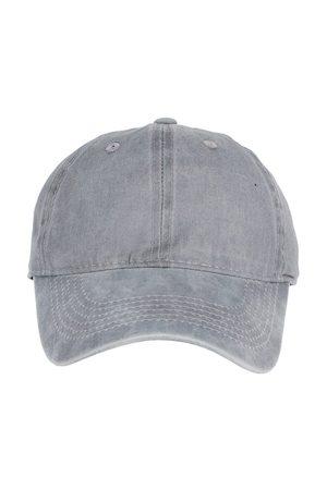 FabSeasons Men Grey Solid Baseball Cap