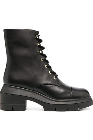 Stuart Weitzman Women Lace-up Boots - Chunky lace-up leather boots