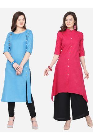 Silk Bazar Women Pack of 2 Solid Kurta Set