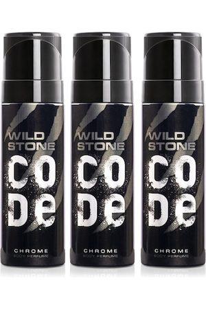 Wild stone Men Set of 3 Code Chrome Perfume Body Spray